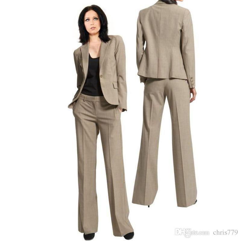 f3dfda9f9 Custom Fashion Women's Business Office Workwear Single Buckle Lapel Slim  Women's Suit Women's Suit Two-Piece (Jacket + Pants)