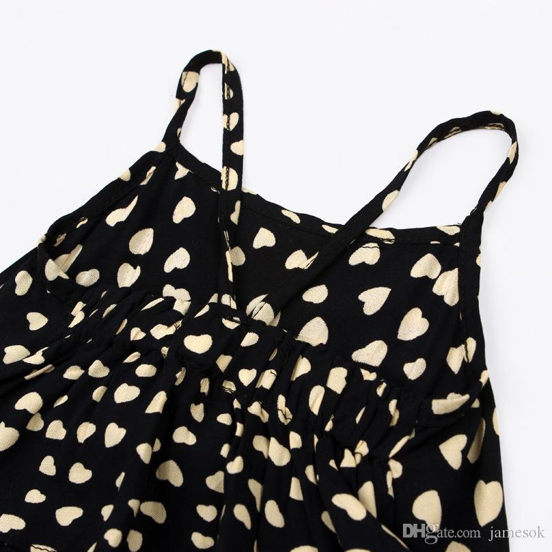 Mädchen-beiläufige Riemen-Kleidung stellt Spielanzugbaby reizende herzförmige Overall-Ladunghosenbodysuitkinderkleidungskinder Ausstattung TO526 ein