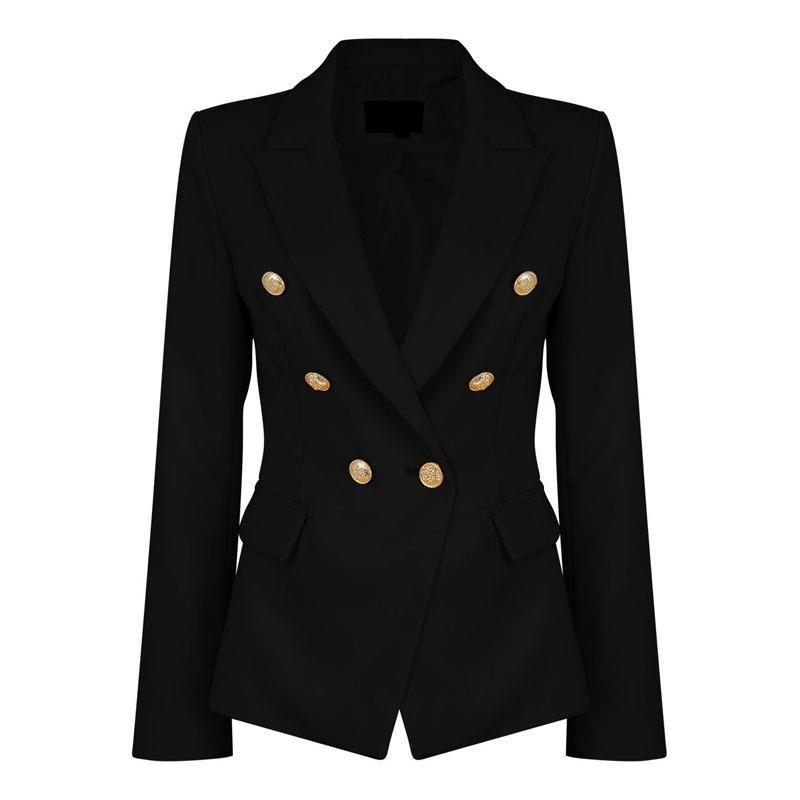 60e496fc7747 2019 Ladies Black Blazers Feminino Formal Jacket Women Short Slim White  Jackets Female Long Sleeve Business Suit WS2509C From Honjiao, $30.2 |  DHgate.Com