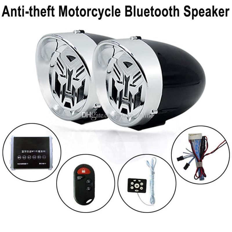 2.5 pouce Moto Bluetooth Stéréo Haut-Parleur King Kong Amplificateur De Style Anti-vol Dispositif D'alarme De Voiture Hi-Fi Son MP3 Radio FM USB Charge de Téléphone