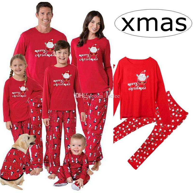 7b835d8a28 INS Red Merry Family Matching Christmas Pajamas PJs Sets Kids Adult Xmas  Sleepwear Nightwear Clothing Family Casual Santa Clothes Set Kids Matching  ...