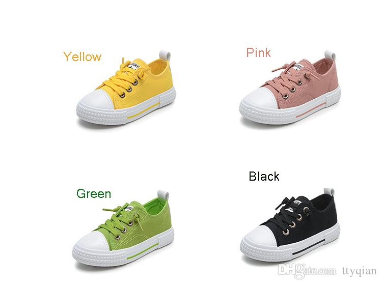 Big virgin Boys Girls Children Green yellow Pink black Sneakers Shoes For Teenagers Girls Boys Student Plus Size Sports Canvas Casual Shoes