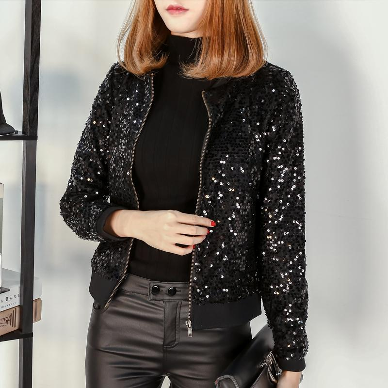 476f7f1e523 M-5XL Large Size Winter New Sequin Jackets Women Plus Size Clothes ...