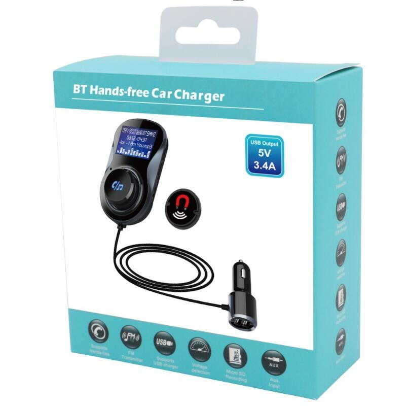 BC30 Auto MP3 Bluetooth Freisprecheinrichtung Kit TF Kartenspeicher Verlustfreie Musik Spielen Auto FM Transmitter Dual USB Schnelles Ladegerät