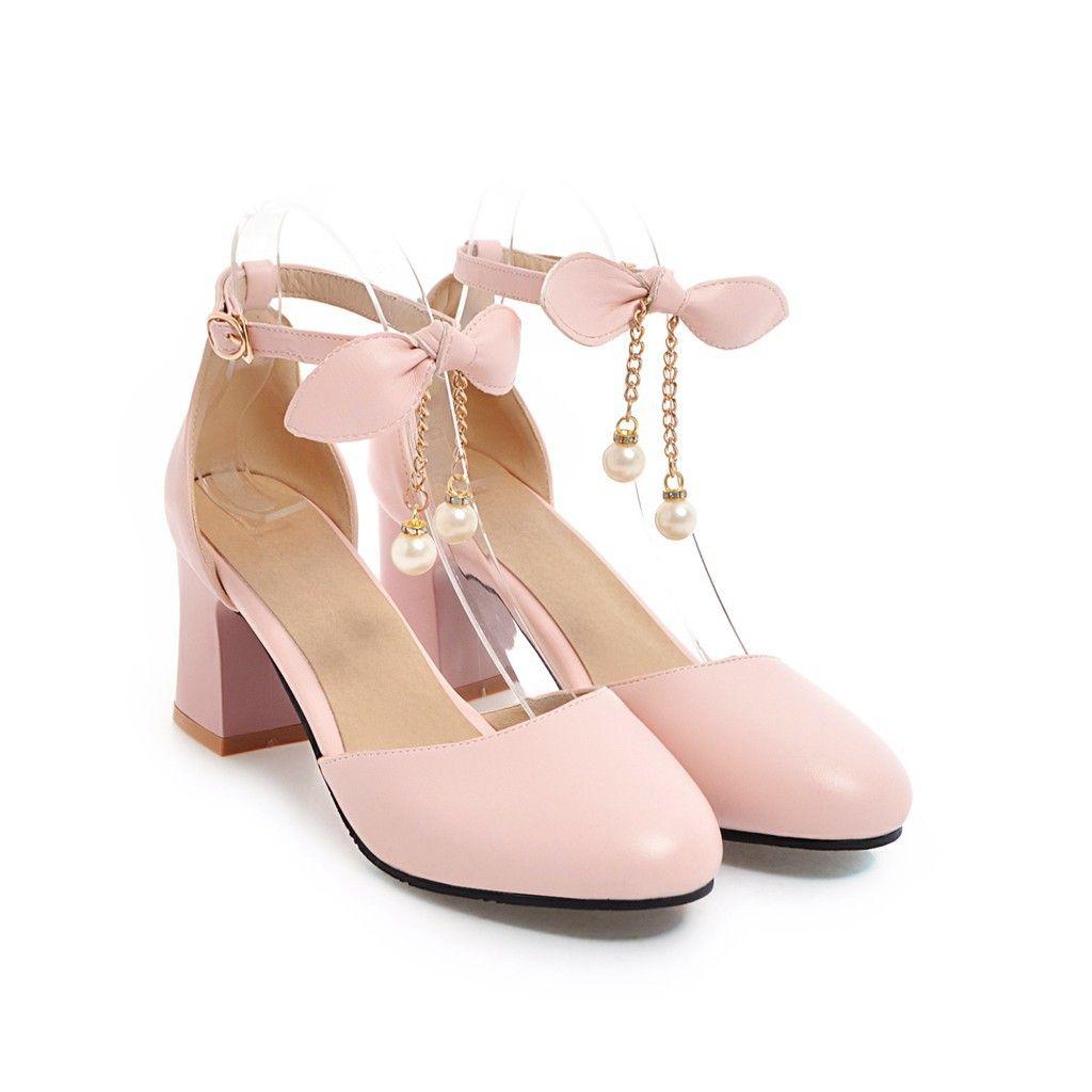 Frauensandalen Sommer schwarz weiß geschlossen Zehe Knöchelriemen klobigen Block Ferse Bräute Hochzeit Sandalen Schuhe