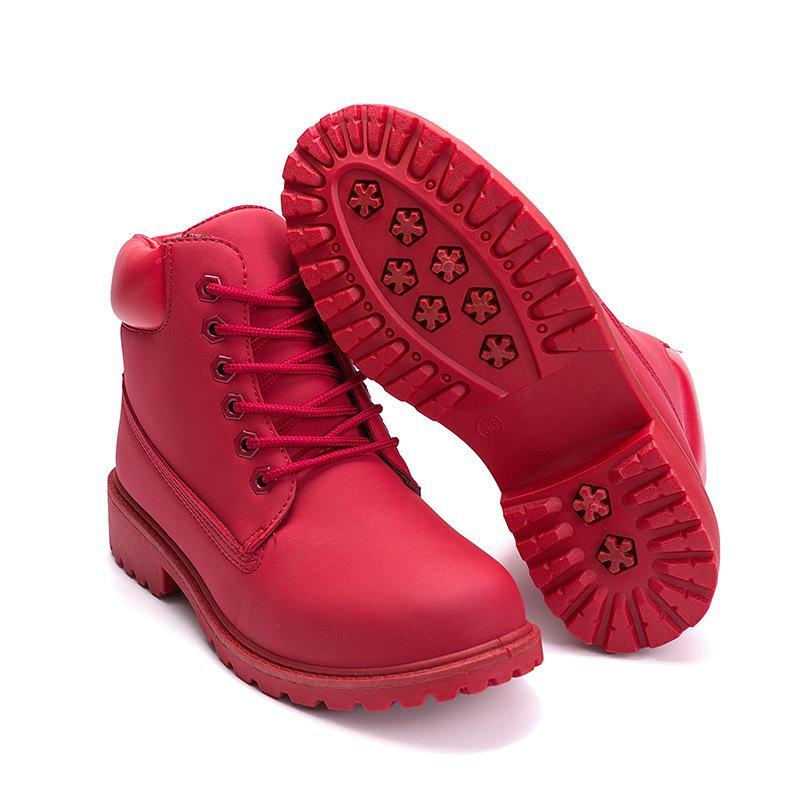 9134f7b05d Compre 2018 Otoño Invierno Mujeres Botines Nueva Moda Mujer Botas De Nieve  Para Niñas Señoras Zapatos De Trabajo Chaussure Femme Plus Talla 36 41 A   49.17 ...