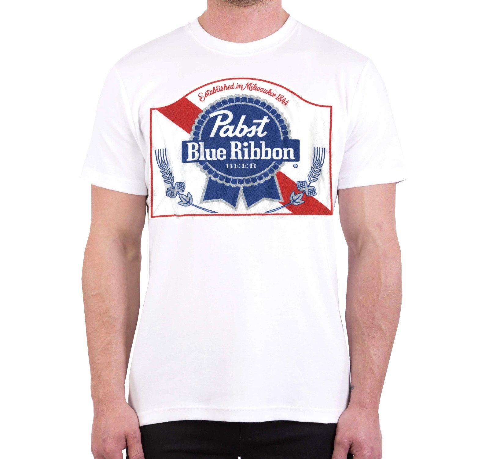 1ada9aa205 Men's t-shirt PBR Old Stock Pabst Blue Ribbon Beer Logo Brewery XL Funny  free shipping Unisex tee