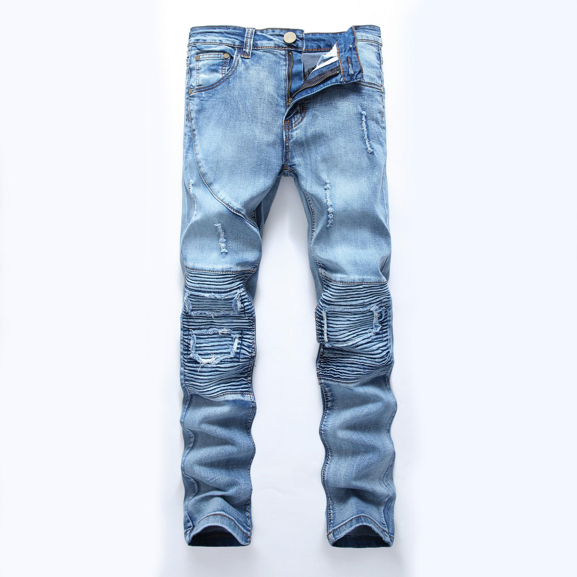 0cc3e1b5ea09 Hole Pockets Jeans Pants Men Casual Fashion Denim Trousers High Street Jeans  Homme Plus Size Online with $77.73/Piece on Clothesg202's Store | DHgate.com