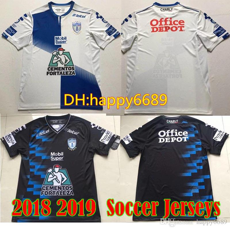 2018 2019 LIGA MX Club CHARLY Jersey De Fútbol Pachuca MANII GARCIA JARA  KSK Local White Away Black 18 19 Adult Football Shirt Por Happy6689 bb348a79cddac