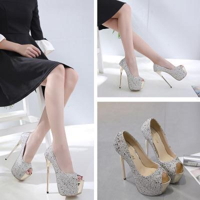 92f1ef5143 Compre Zapatos De Tacones Altos Para Mujer Impermeable Y Ornamento De  Diamantes Zapatos De Novia Dama De La Moda Cómodo Y Antideslizante Zapatos  De Dama De ...