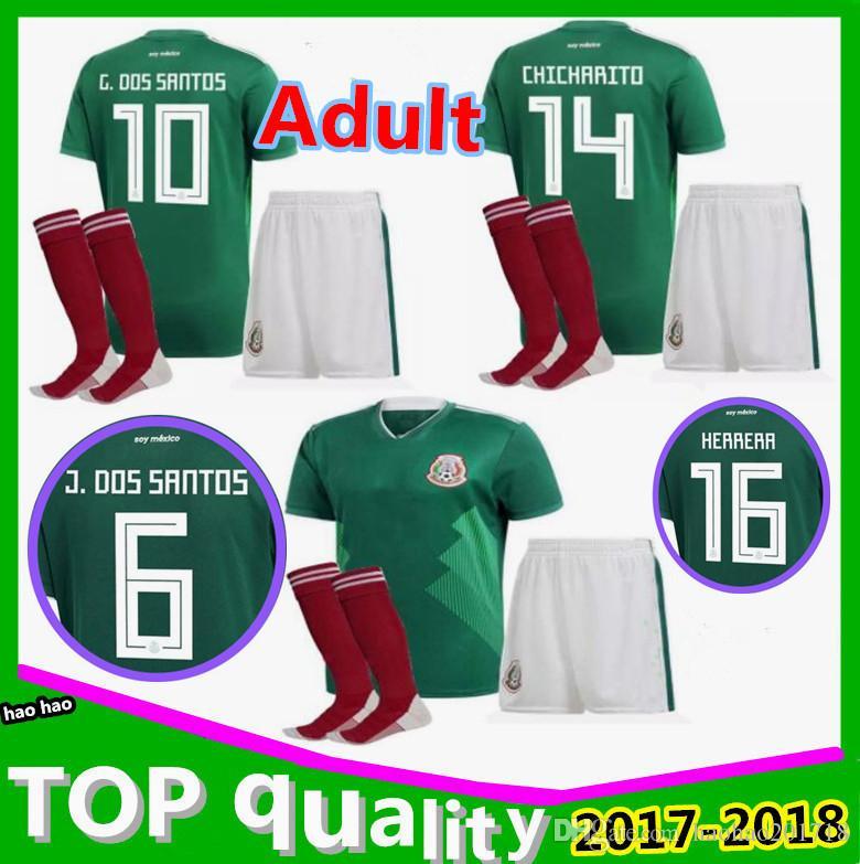 2018 2018 Men Mexico Soccer Jersey Home Away 17 18 World Cup Chicharito  Camisetas De Futbol Hernandez G Dos Santos Football Shirts From  Haohao201718 35be5b6f5