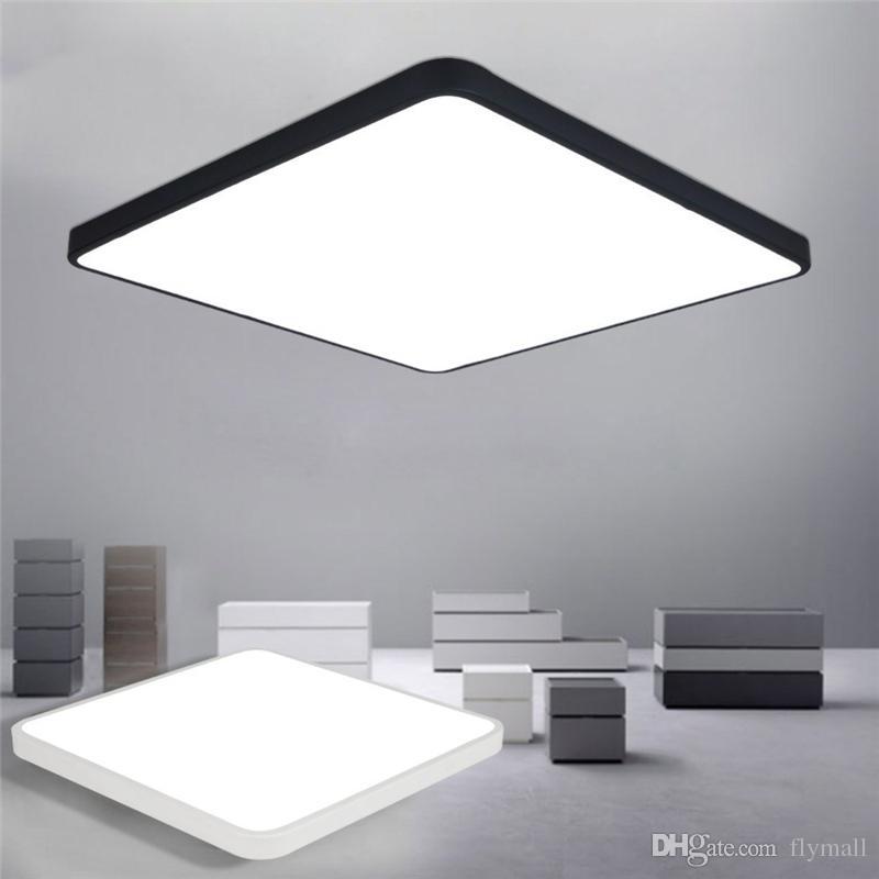 Großhandel LED Deckenleuchte Moderne Lampe Wohnzimmer Leuchte Schlafzimmer  Küche Oberflächenmontage Flush Ultradünne LED Panel Light Schwarz / Weiß ...