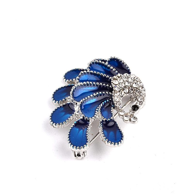 High-grade Fashion Elegant Crystal Peacock Rhinestone Brooch Pins Jewelry Gift Enamel Pin Brooches Sweater Accessories For Women