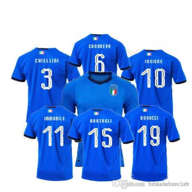 cac74d1e967df Buffon Verratti Italia 2018 2029 Camiseta De Fútbol Nacional 18 19 De Rossi  Bonucci Chiellini INSIGNE Camisetas Italia Copa Del MundoCamisetas De  Fútbol Por ...