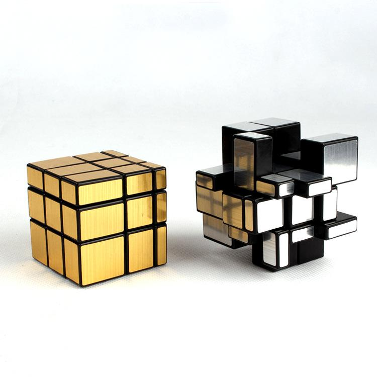 3x3x3 Magic Mirror Cube Professional Magic Cast Coated Puzzle Speed Cube Learning Education Toys For Children Magic Cube with Retail Box