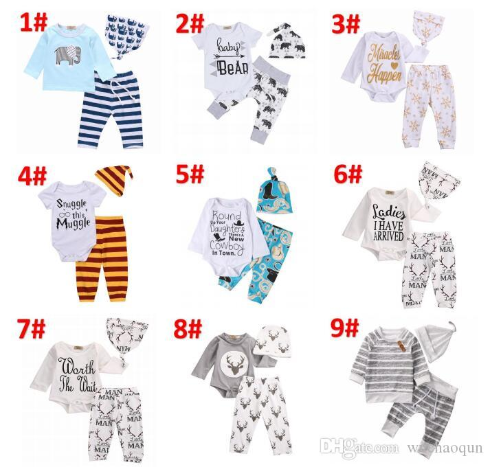 410557a674dfa 2019 2018 Newborn Clothing Sets48 Styles Girls Boy Baby Bear Rompers  Jumpsuits Pants Hat Baby Coming Home Outfits Set Kids Clothing BY0211 From  Wuchaoqun, ...