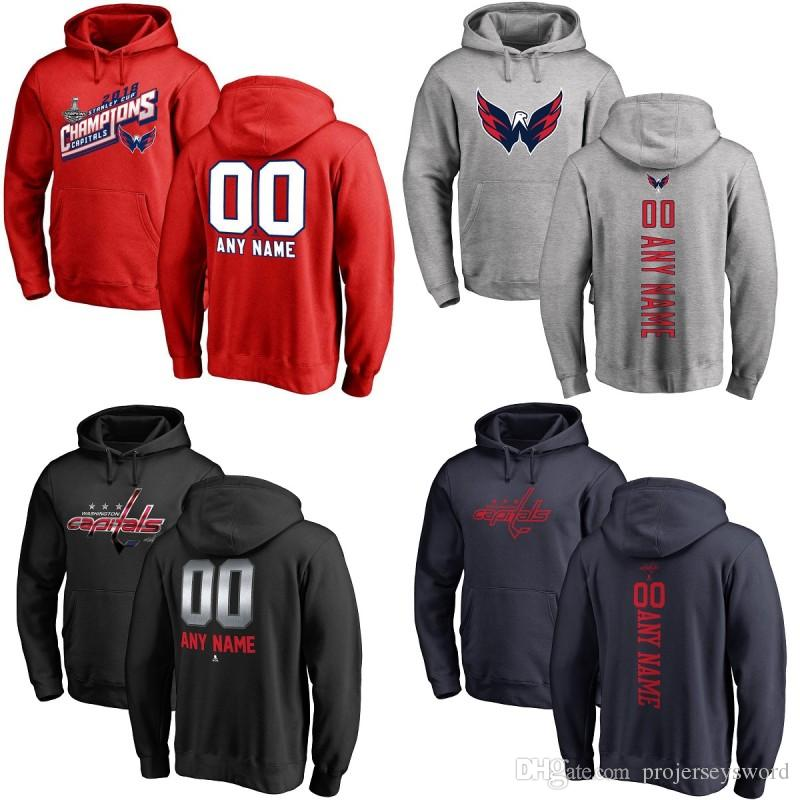 competitive price bac62 719c3 Youth Washington Capitals Hoodie 2018 Stanley Cup Champion Patch Alex  Ovechkin Nicklas Backstrom Tom Wilson T.J. Oshie Hockey Jerseys
