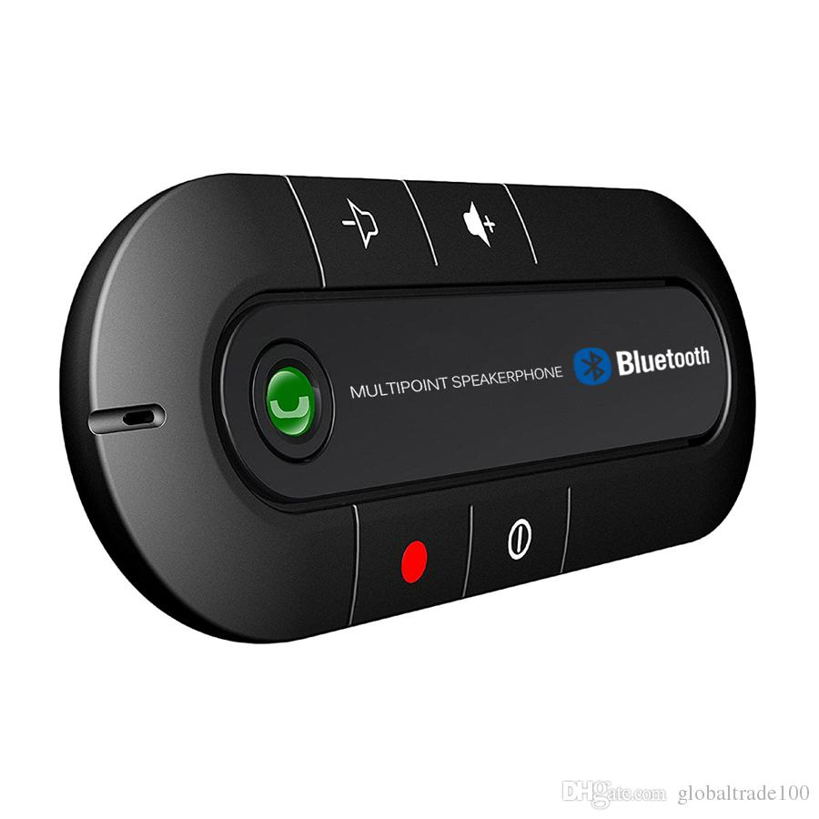 Multipoint Bluetooth Car Kit Wireless Speakerphone Handsfree Headphone MP3 Music Player bt980 for SmartPhone IPhone Android phones