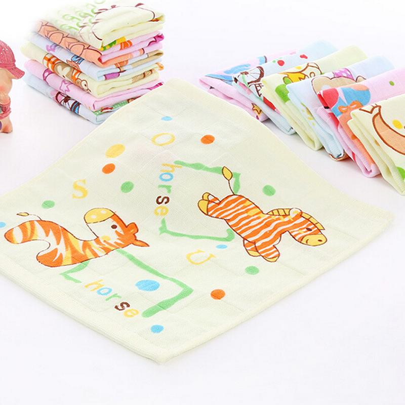 26 * 26cm Wholesale kids Towels Printing Cartoon Square Soft Cotton Face  Hand Hair Towel for Kids Children House Cleaning New