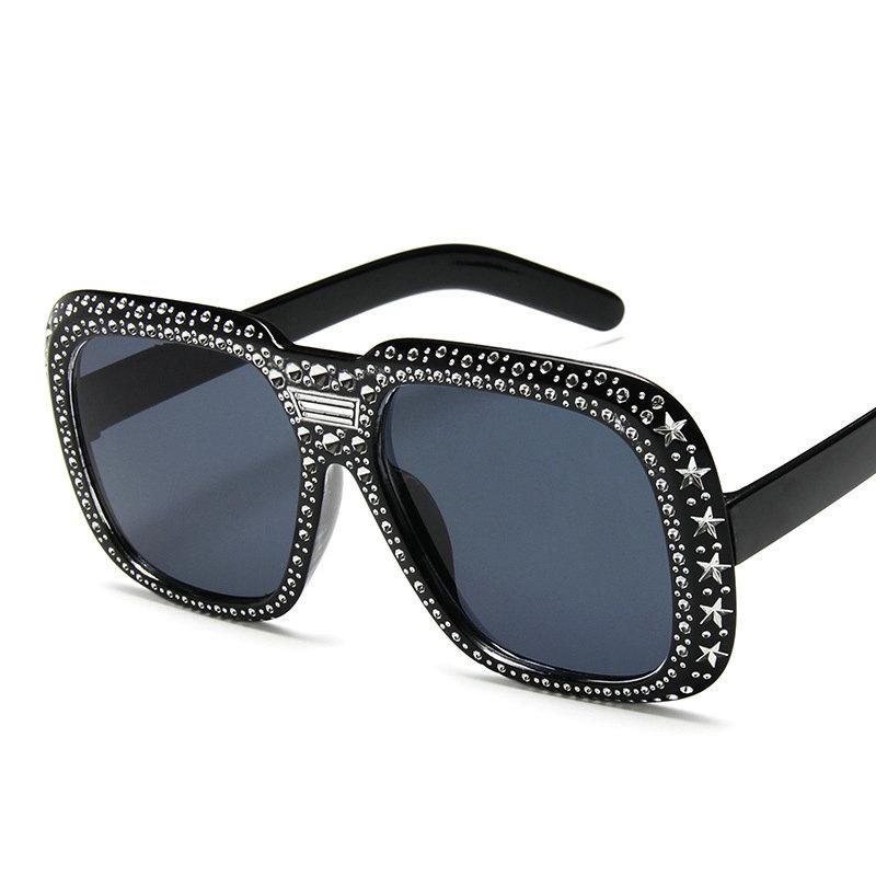 b1ca62d677 Oversized Square Sunglasses Fashion Women Large Size Big Retro Black Sun Glasses  Lady Female Vintage Brand Designer Goggle UV NX Glasses Online Polarized ...
