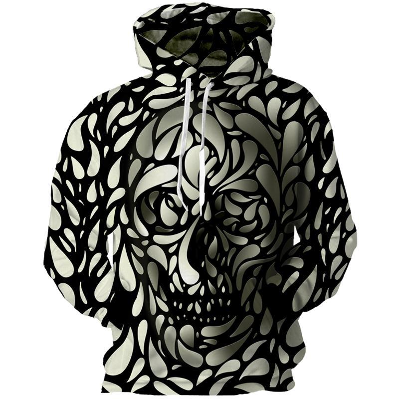 a28575cc6aec 2019 Wholesale Cloudstyle 2017 New Skulls 3D Hoodies Men 3D Spot Skull  Print Hooded Sweatshirts Longsleeve Crewneck Hat Pullover Hot Design From  Blueberry13 ...