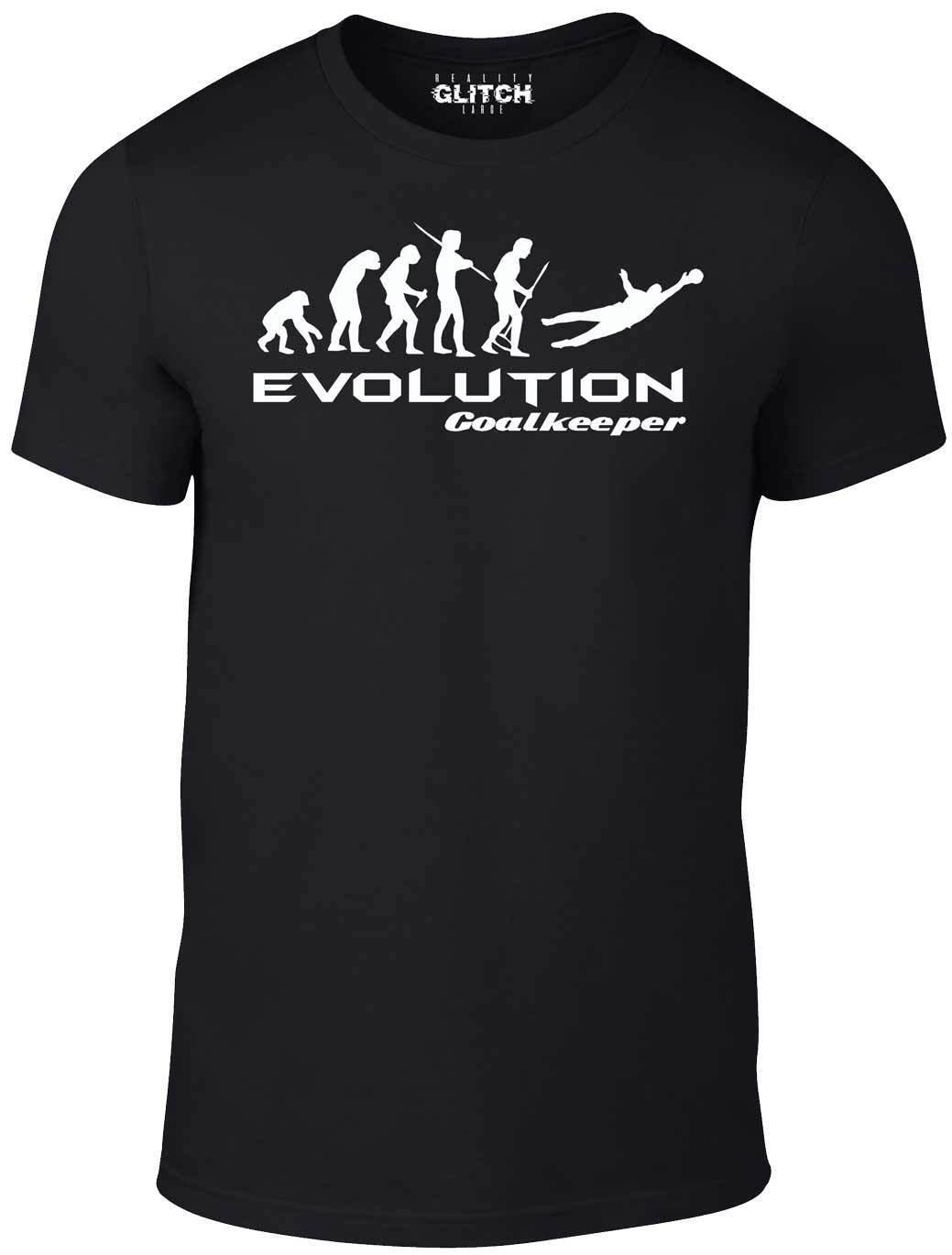 ddb8444906f Evolution Of Goalkeeper T Shirt Funny T Shirt Football Goals Retro Keeper  Goal Crazy T Shirts T Shirt Prints From Yuxin0004