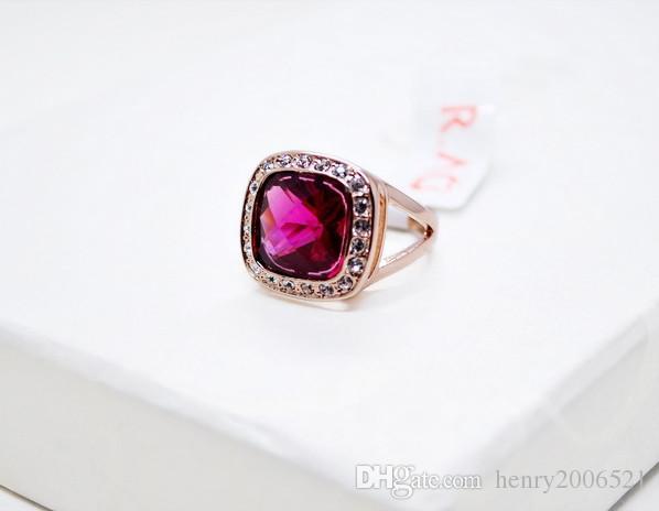 Свадебное обручальное красное рубиново-розовое золото 5,75 карата имитирующее кольцо с бриллиантом, размер 7,5