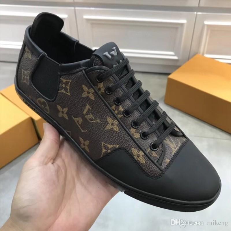 2018 High Quality Designer Shoes Luxury Brand Men Shoes Genuine ... bbc0b37cbbe