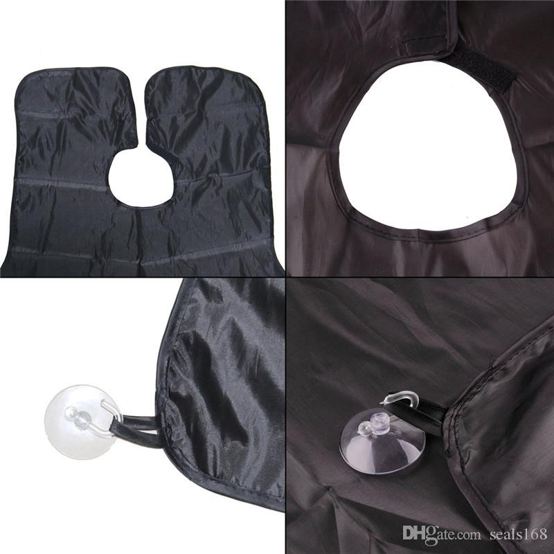 Waterproof Moustache Shaving Beard Care Apron Gathers Cloth Bib Face Hair Trim Catcher Cape Sink Cleaning Towel Black ANd WHite HH7-1022