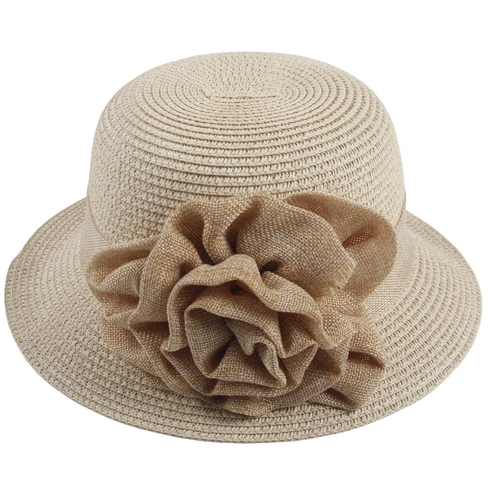 Sidiou Group Women Straw Bucket Hat Summer Sun Foldable Beach Caps  Fisherman Hat UV Protection With Flower Decor Mens Straw Hats Mens Hat  Styles From ... 6664e7392b31