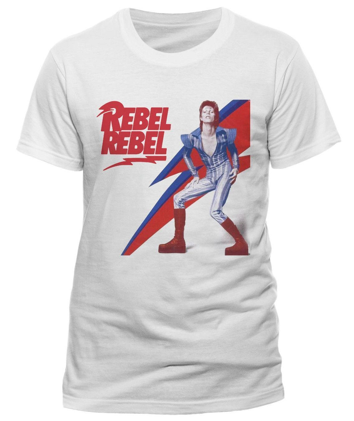 d4c6453c1182a7 David Bowie ' Rebel Rebel ' T SHIRT Nuevo Y Oficial Personalised T ...