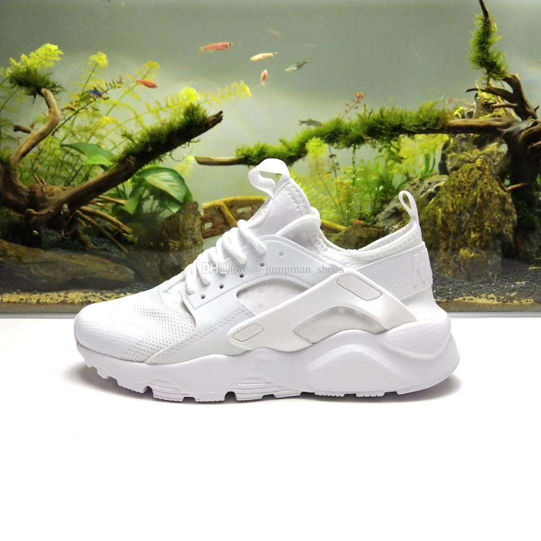 f4ae1c092502 Mens Designer Shoes Huarache 4 Ultra Casual Shoes White Black Huarache  Trainers For Men   Women Shoes Sneakers 36 45 Yellow Shoes Gold Shoes From  ...