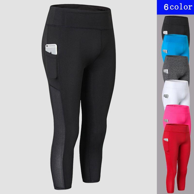 7fa6d6b0d6a68a 2019 Yoga Leggings White High Waist Out Pocket Sport Fitness Women Running  Gym 2018 Jogging Sweat Pants Scrunch Leggings From Booket, $26.82 |  DHgate.Com