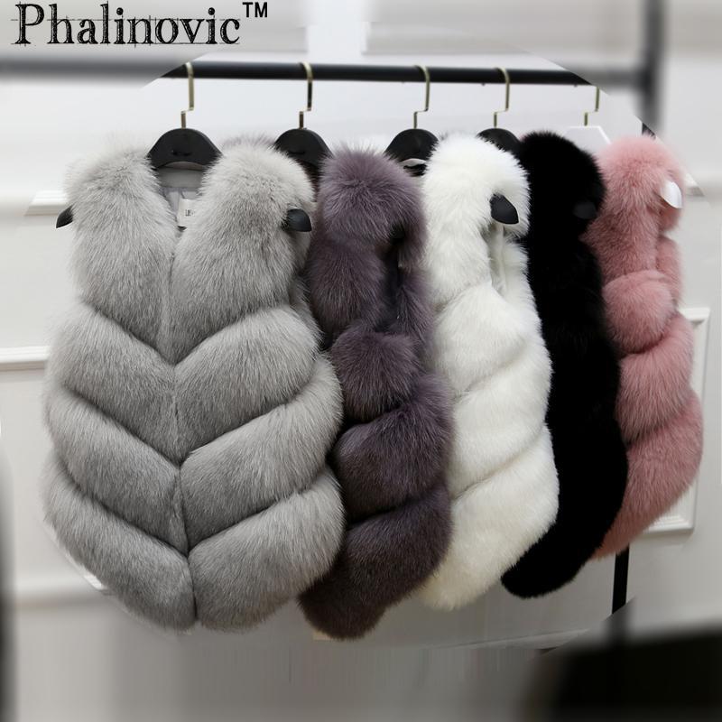 b2f3ef23532da 2019 Phalinovic Winter Fur Vest Coat Luxury Faux Fox Fur Warm Women Coat  Vests Fashion Coat Women S Coats Jacket Gilet Veste C18110102 From Tong04