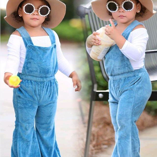 a8bb1a8fff56 Vieeolove Girls Pants Overalls 2018 New Spring Autumn Winter Velvet ...