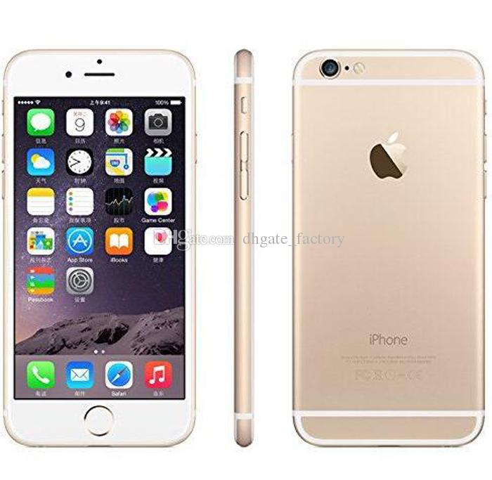 100% Original 4.7inch 5.5inch iPhone 6 iphone 6 Plus IOS 8.0 MP Camera 4G LTE With Fingerprint Unlocked Refurbished Cell Phones DHL Free