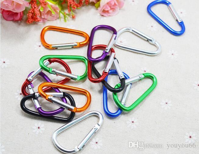 Carabiner Ring Keyrings Key Chains Outdoor Sport Camp Snap Clip Hook Keychain Hiking Aluminum Convenient Hiking Camping Customized LOGO OEM