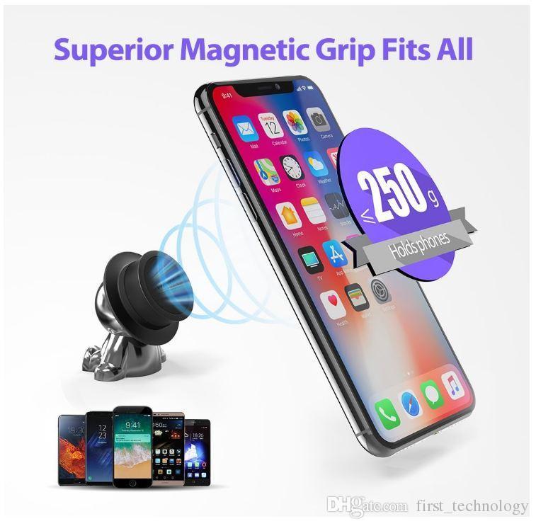 자기 전화 자동차 마운트, 휴대 전화 홀더 모자 범용 대시 마운트 손 아이폰 X 8 7 6 플러스 삼성 Gps
