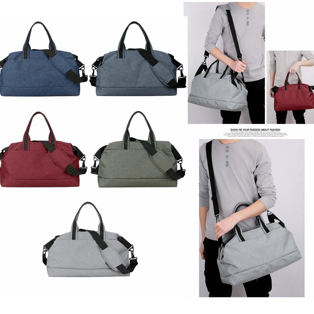 a99e79a7b0b7 Waterproof Foldable Sport Gym Bag Solid Duffel Bags Fitness Gear ...