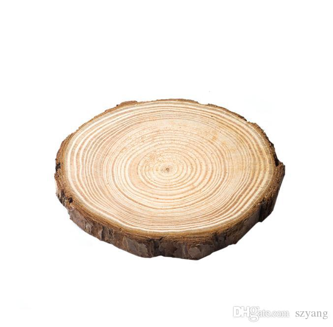 New Arrival DIY Natural Round Wooden Slice Cup Mat Coaster Tea Coffee Cup Holder Non Slip Mat 5 sizes SN1123