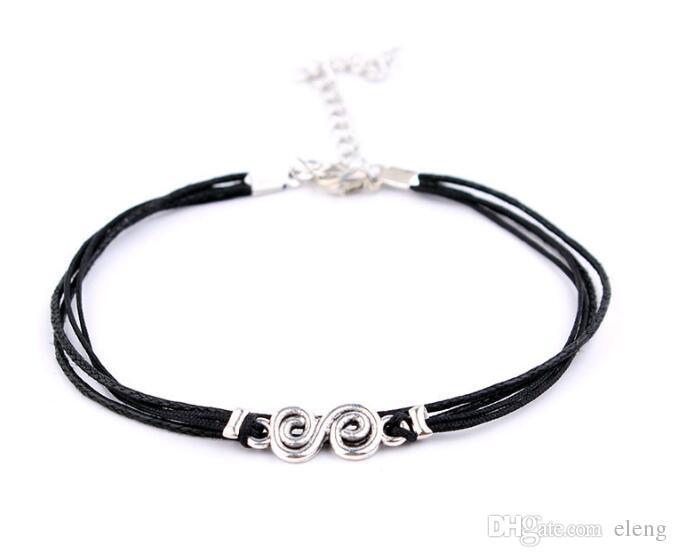 2018 vente cheville d'ancre bohème 3 D accessoires de bricolage corde de cire à suspendre pompon cheville multicouche perle de femme