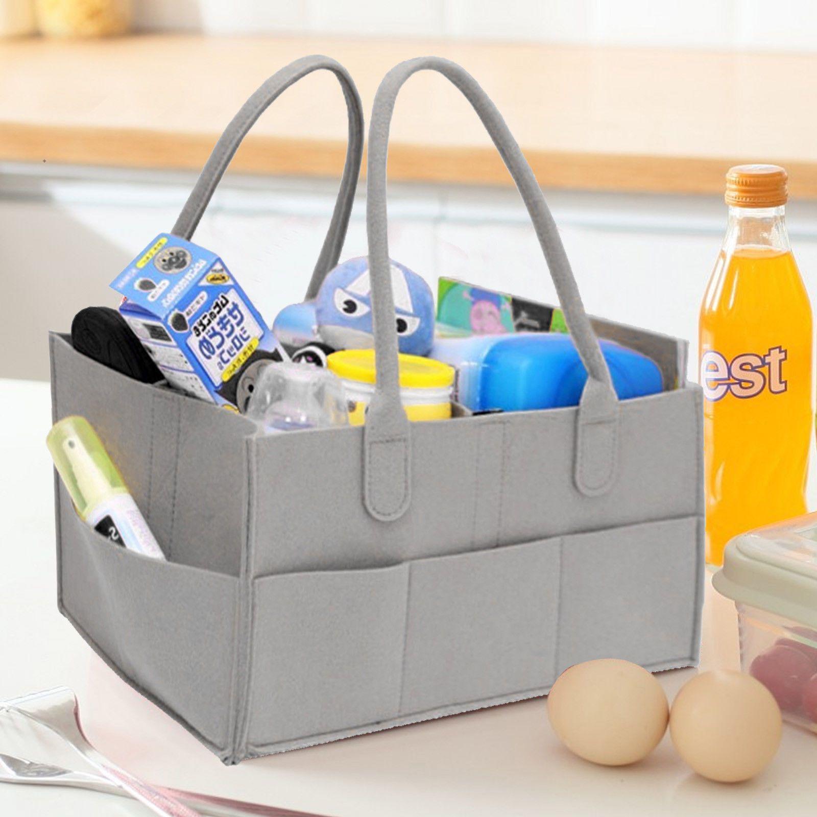 Baby Windel Organizer Tücher Tasche Caddy Kindergarten Lagerplatz Baby Windel Zusammenklappbare Organizer Korb Für Hängen
