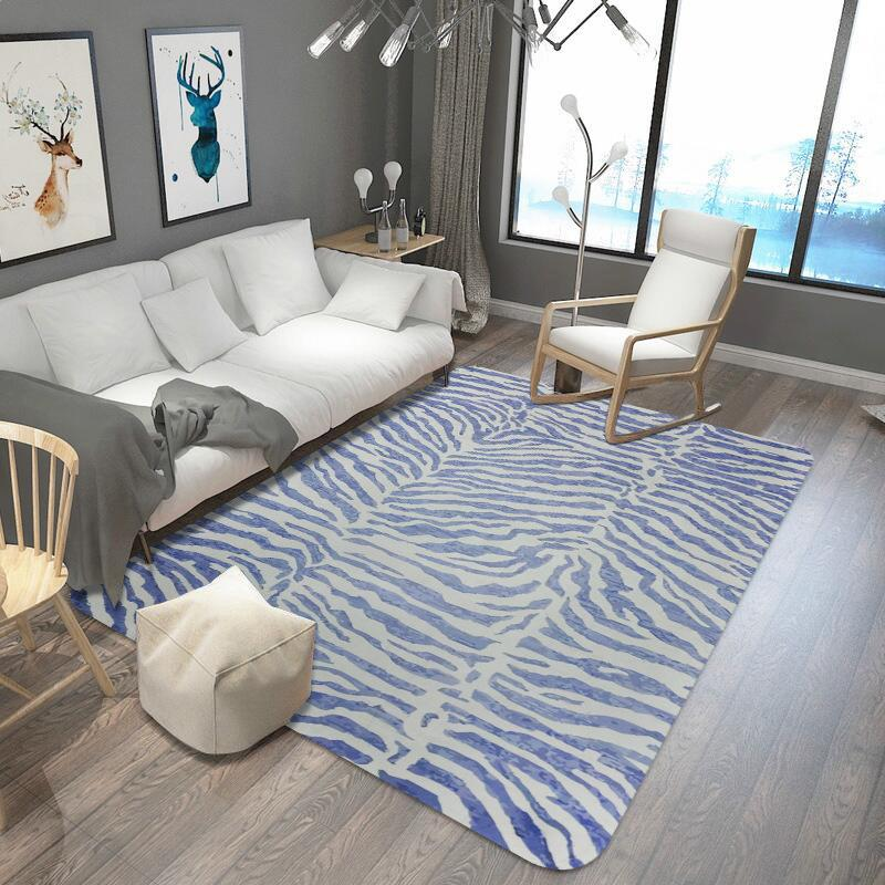 Stripe Printed Rug And Carpet For Living Room And Bedroom Area Rug