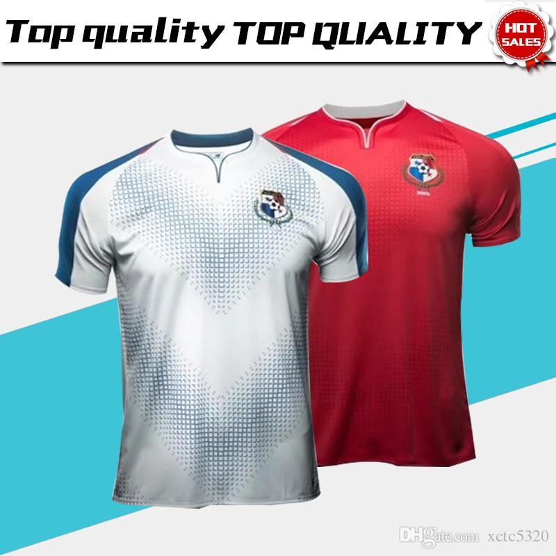 2018 Copa Del Mundo De Panamá Inicio Red Soccer Jersey Panamá Visitante De Fútbol  Blanco Camiseta 2018 Copa Mundial De Fútbol Uniforme Por Xctc5320 b5f61be4ed003