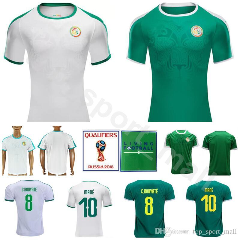 1cb2047c2a0 2019 Senegal Soccer Jersey Men Green White 10 Sadio Mane 8 Cheikhou Kouyate  7 Moussa Sow Football Shirt Kits 2018 World Cup Custom Name Number From ...