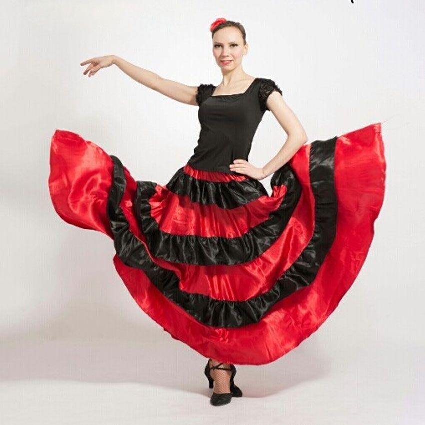 Acheter Filles Plus La Taille Grande Espagnole Jupe De Flamenco De