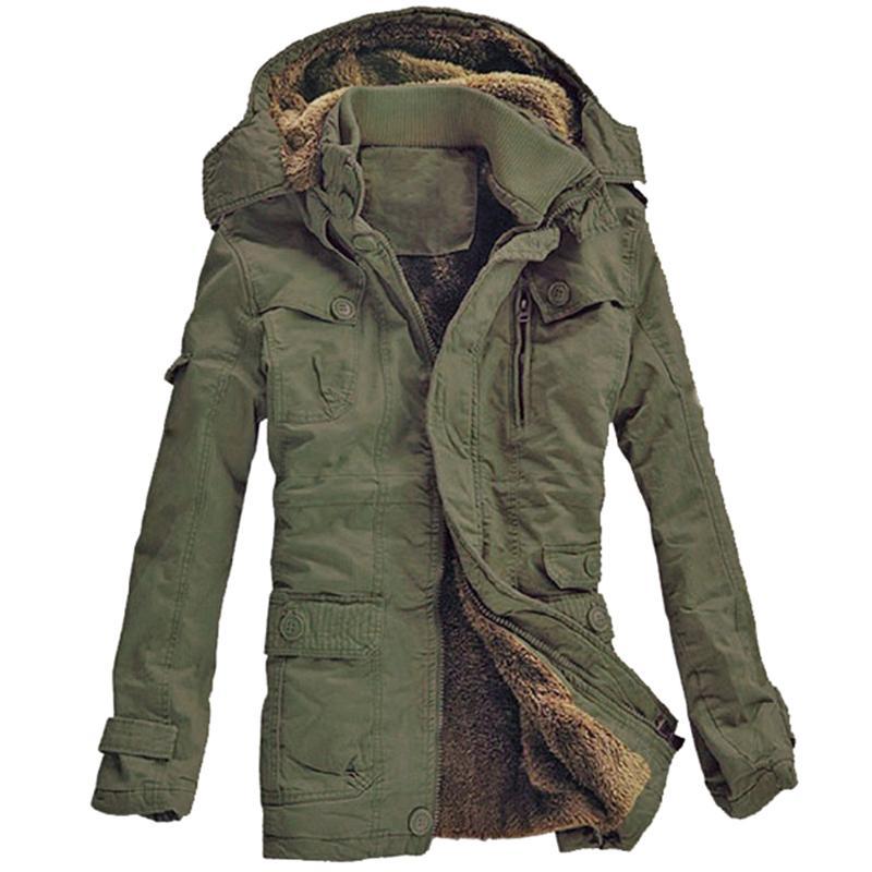 06eba3d44a0 2019 2018 New Fashion Men S Fleece Faux Fur Winter Coat Hoodies Parka  Overcoat Jacket Lowest Price Plus Size From Seein