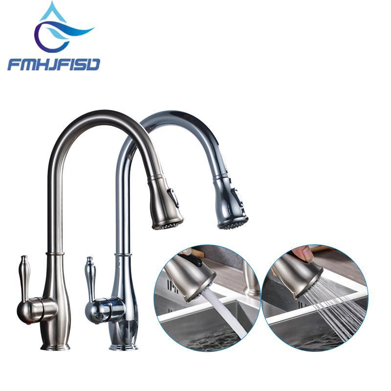 Kitchen Faucet Chrome Brass Brushed Nickel High Arch Kitchen Sink ...