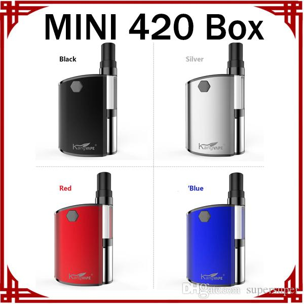 MINI 420 Box Vape 1.5ohm Cartridges 510 Cartridges With Ceramic Coil Vape Pen Starter Kits Adjustable Variable Voltage