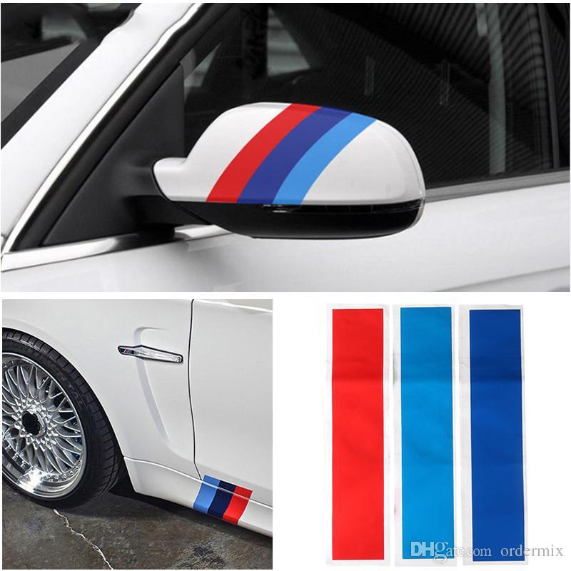 سيارة التصميم السيارات ملصقا متعددة الوظائف اكسسوارات السيارات سيارة التصميم الرياضة شريطية 3 ألوان ل bmw m3 m5 e46 دائم الساخن